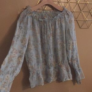 Tops - Sheer dressy floral print top. Open to offers